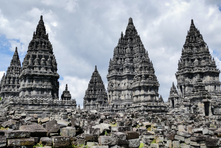 Prambanan temple is a historical building in Indonesia