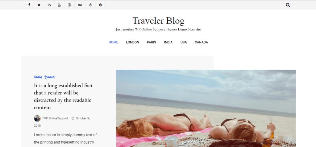 Free Traveler Blog Lite