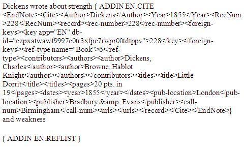 field codes