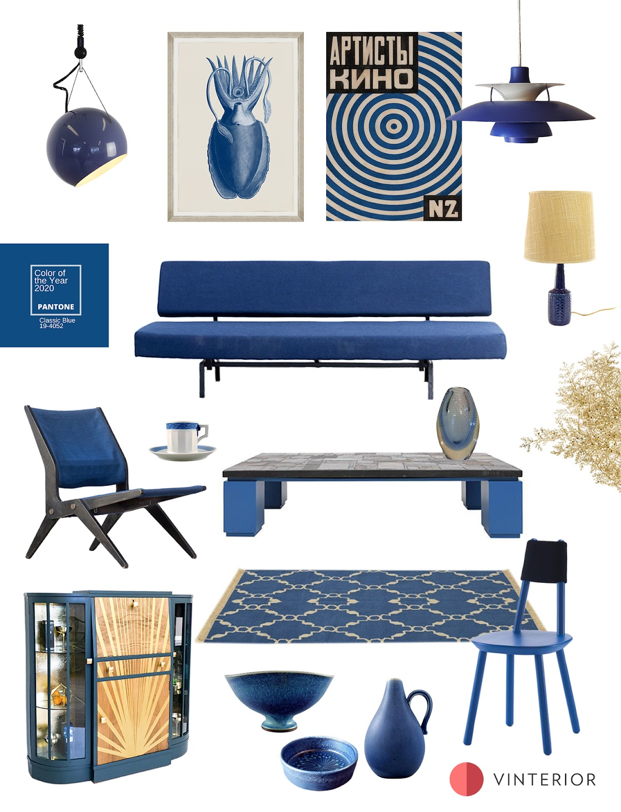 Shop the Look: Pantone Colour of 2020: Decorating with Classic Blue