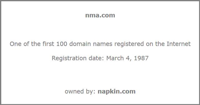 TIC.com, one of the first domain name screenshot.