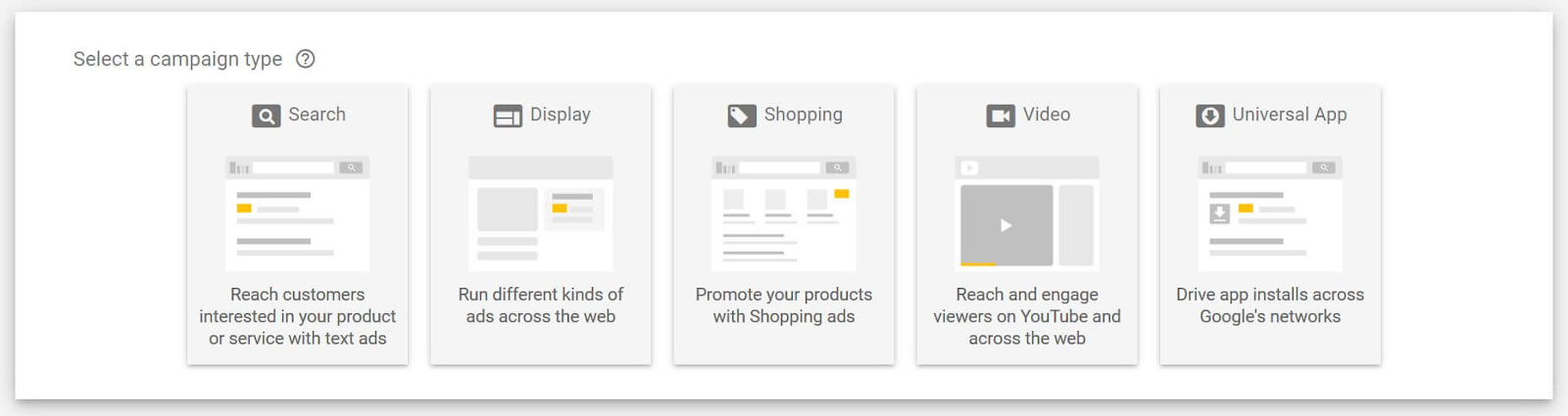 new campaign type - google ads