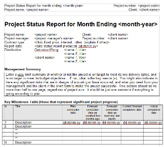 The ultimate list of 41 free project management templates monthly project status report template maxwellsz