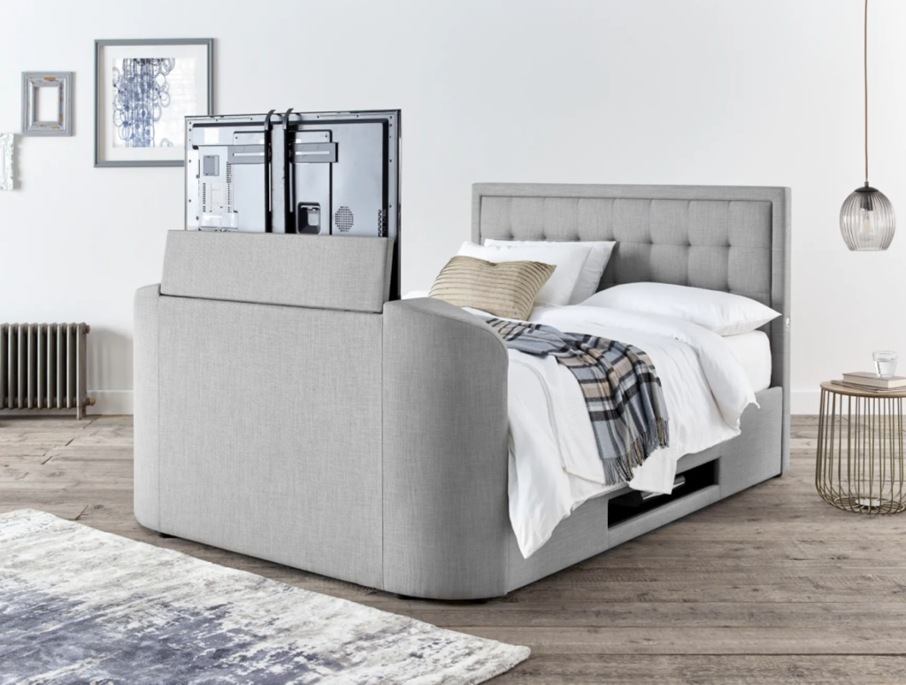 king size tv bed with ottoman storage