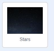 lost in space, stars backdrop in scratch
