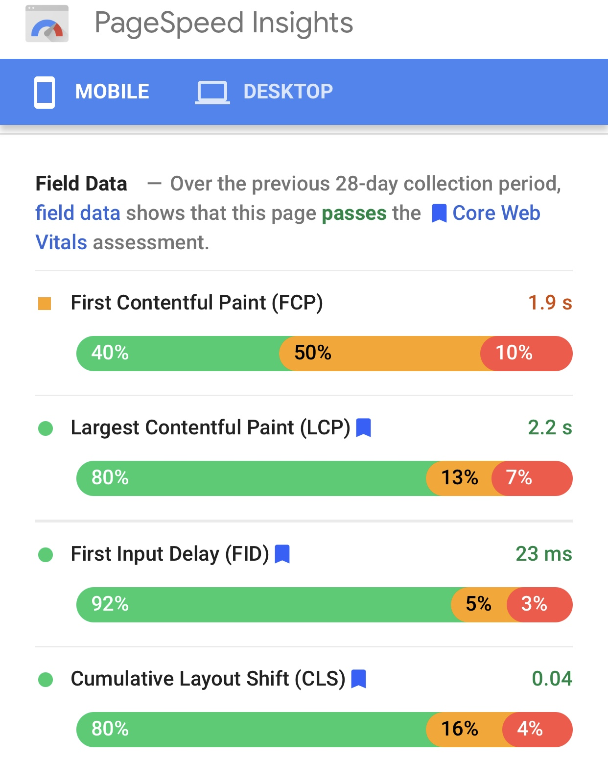 PageSpeed Technical Insights