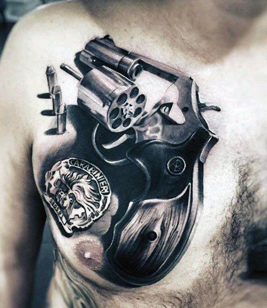 50 ลายสักกระสุนปืน เท่ห์ๆ หล่อจัด โหดจัด39