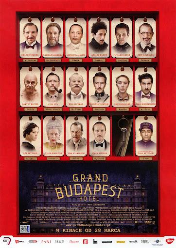 Przód ulotki filmu 'Grand Budapest Hotel'