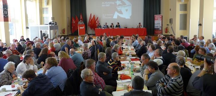 Saal mit den Parteitagsdelegierten.