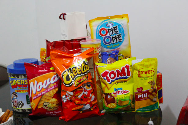 snacks on table the film fund