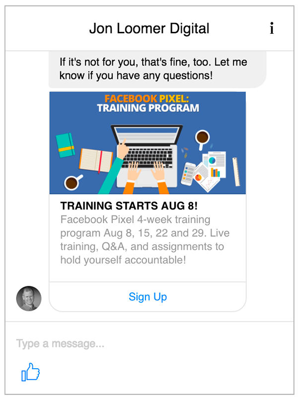facebook messenger bot ads