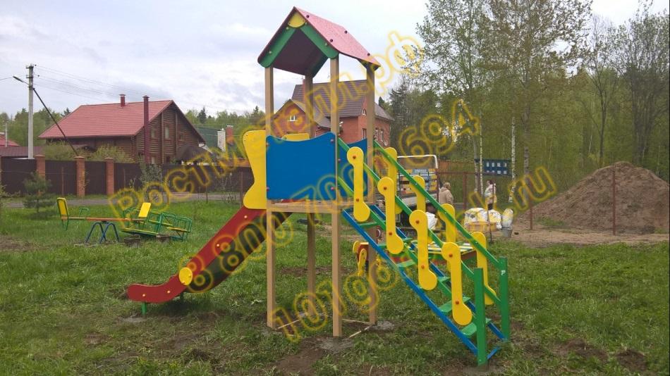 Горка домик для детей