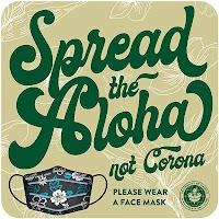 "9"" blue circle - Spread Aloha"