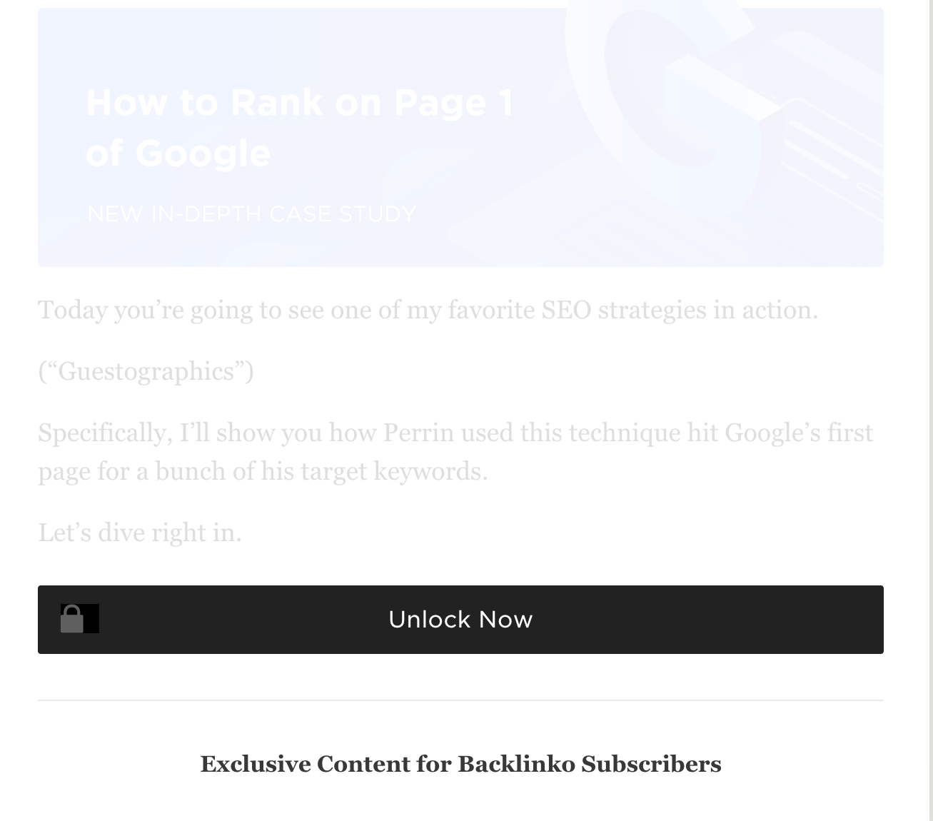 gated content lead magnet backlinko