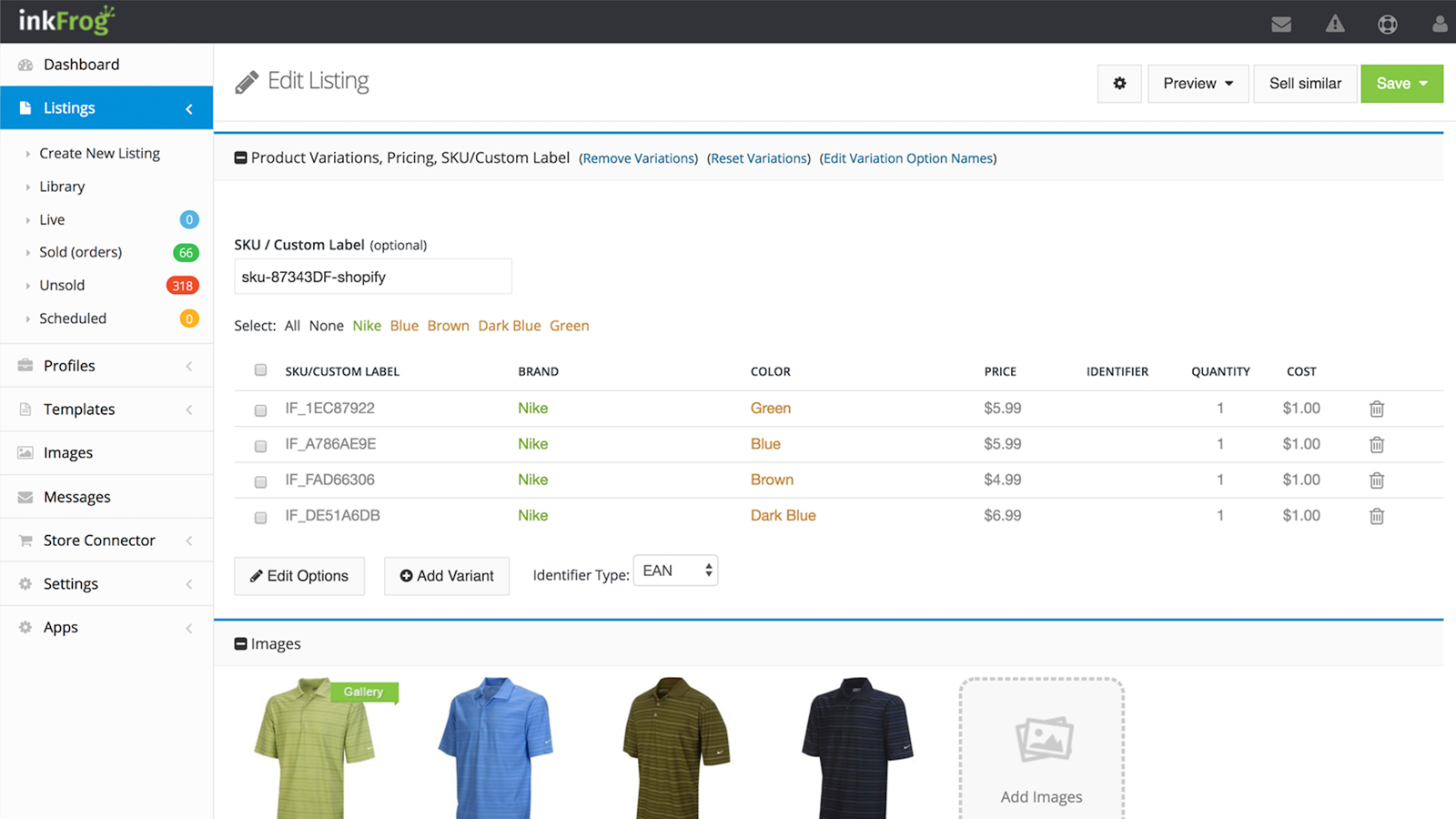 Shopify product importer app