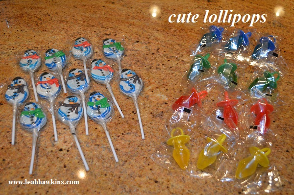lollipops for the holiday party