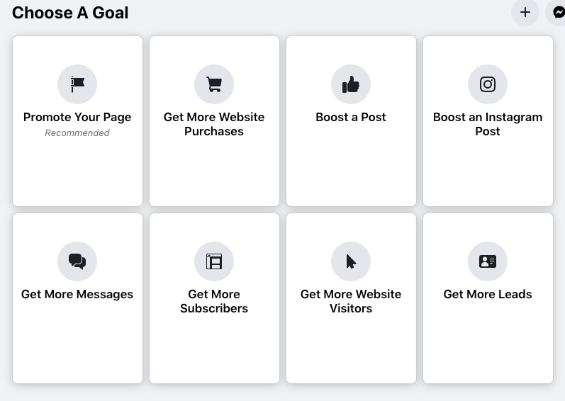 screenshot of facebook ad campaign