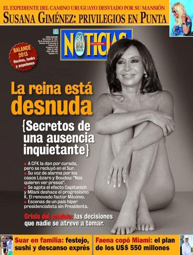 """Resultado de imagen de denuncias a revista noticias por portadas de cristina"""""""