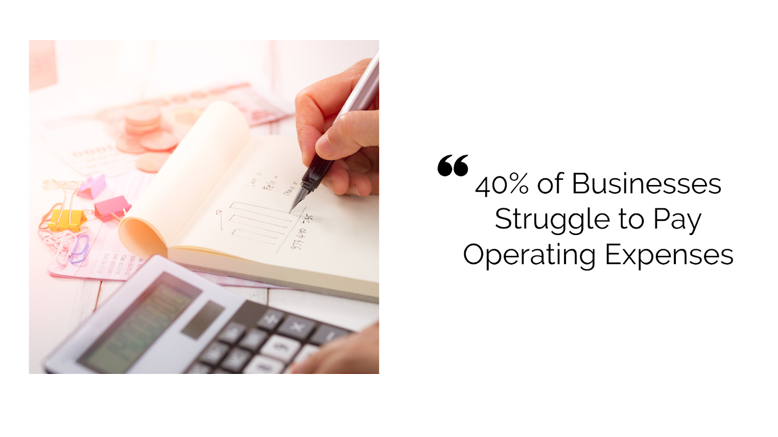 40% Businesses Struggle to Pay Operating Expenses