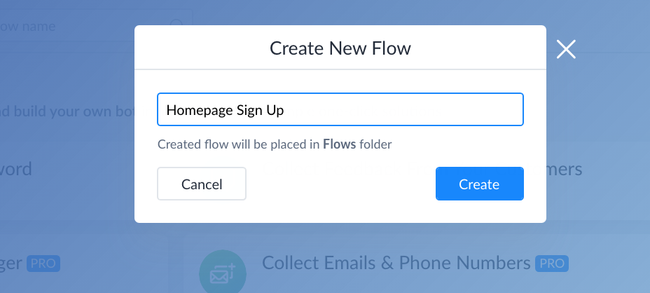 Naming flow