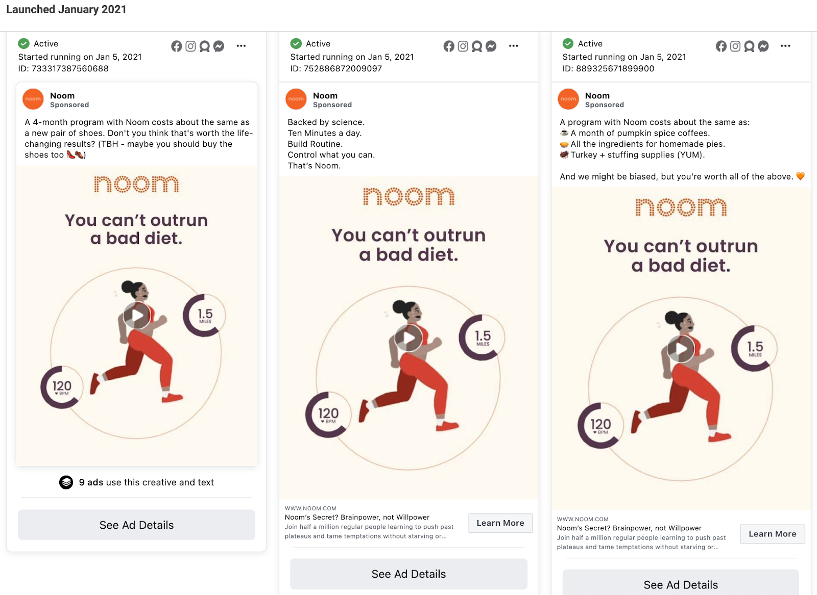 Facebook ad copy templates