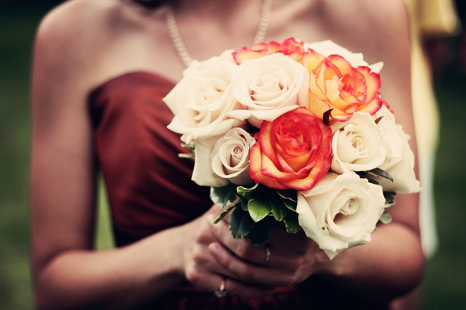 Bouquet, Bouquet Of Flowers, Roses, Bridesmaid