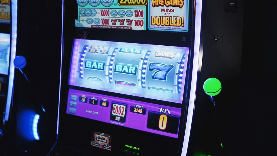 Slots, Slot, Slot Machine, Slot Machines, Neon, Vegas
