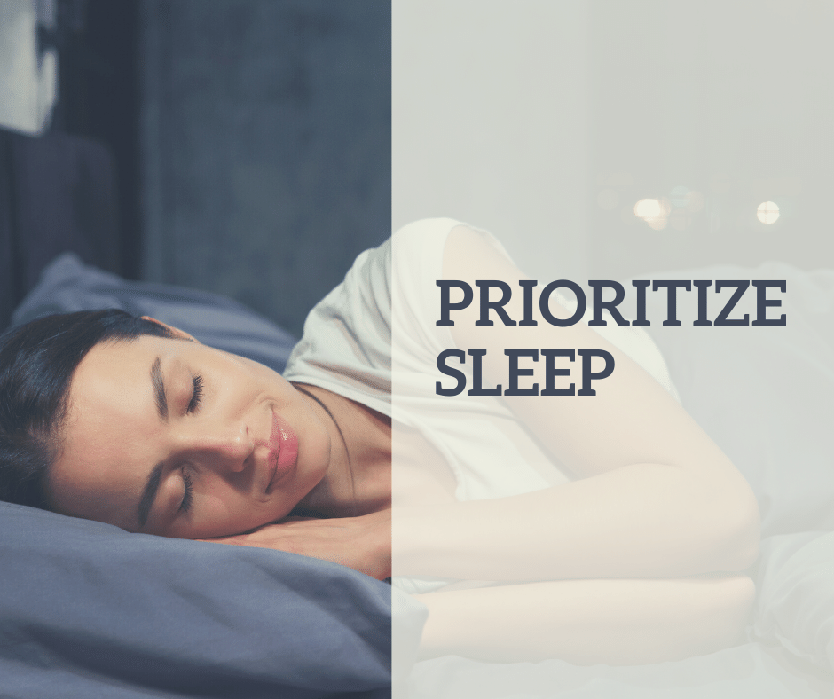prioritize sleep