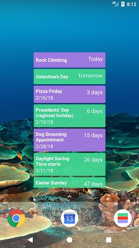 Calendar Countdown List Widget- screenshot thumbnail