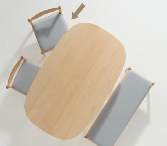 ② コサインの椅子ならシンプルで洗練された雰囲気を作り出す