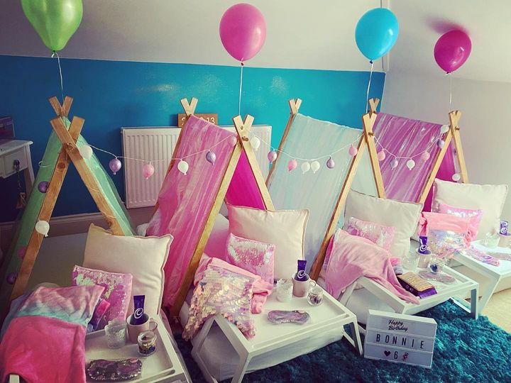 A girls party from Mini Glampers Devon