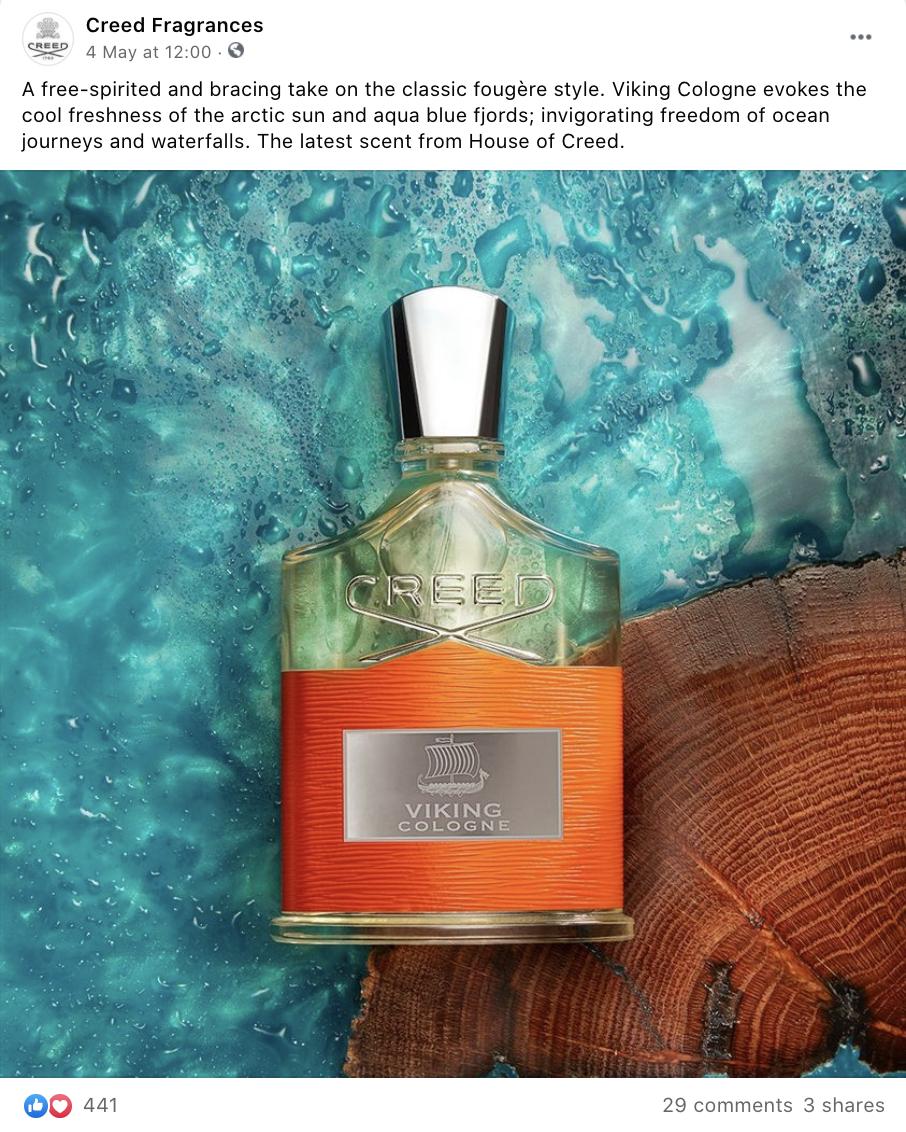Luxury Fragrances Brand Creed Image Example