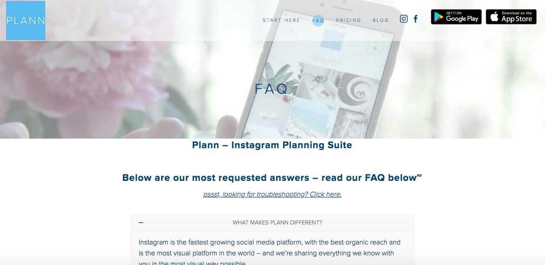 Plann FAQ