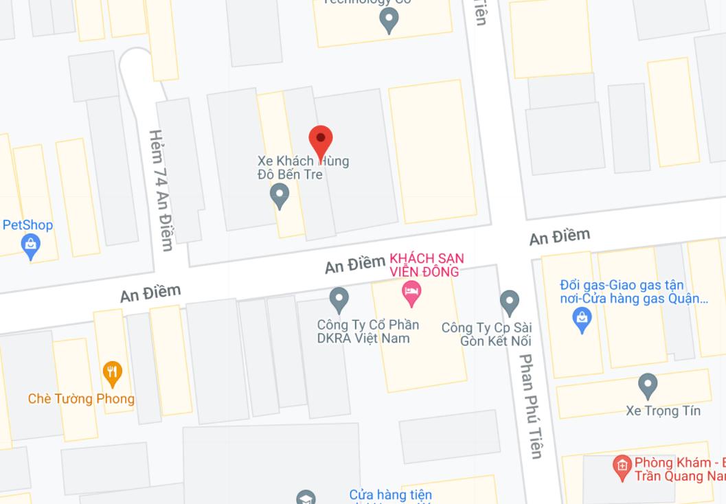 Địa điểm đón/trả khách tại Sài Gòn