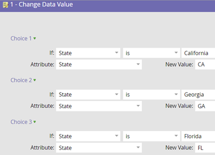 Work flow set option Data Normalization