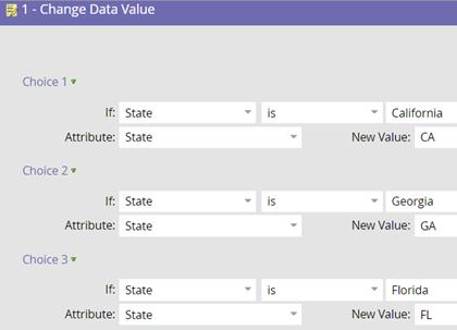 Work flow set option Data Normalization