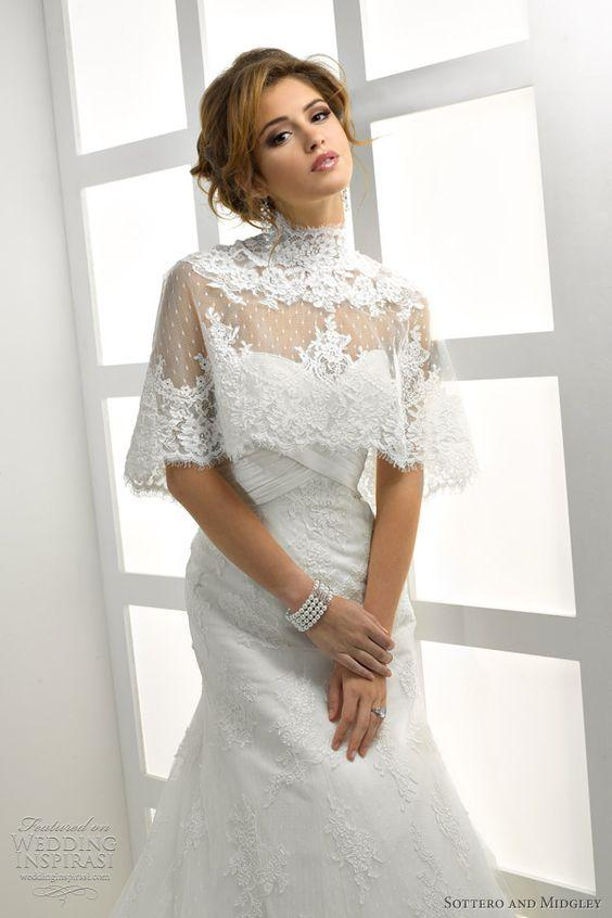 sottero midgley wedding dress with cape: