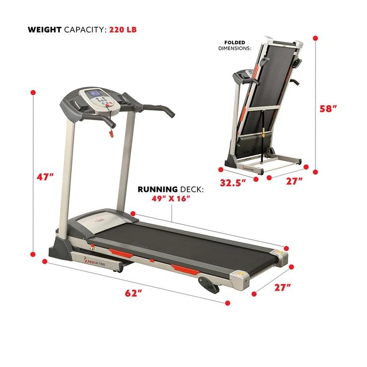 dimensions of a treadmill