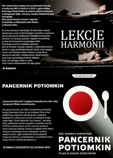 Tył ulotki filmu 'Lekcje Harmonii'