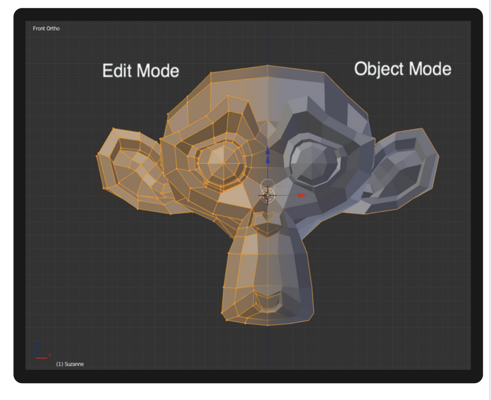 Object mode vs. Edit mode in Blender