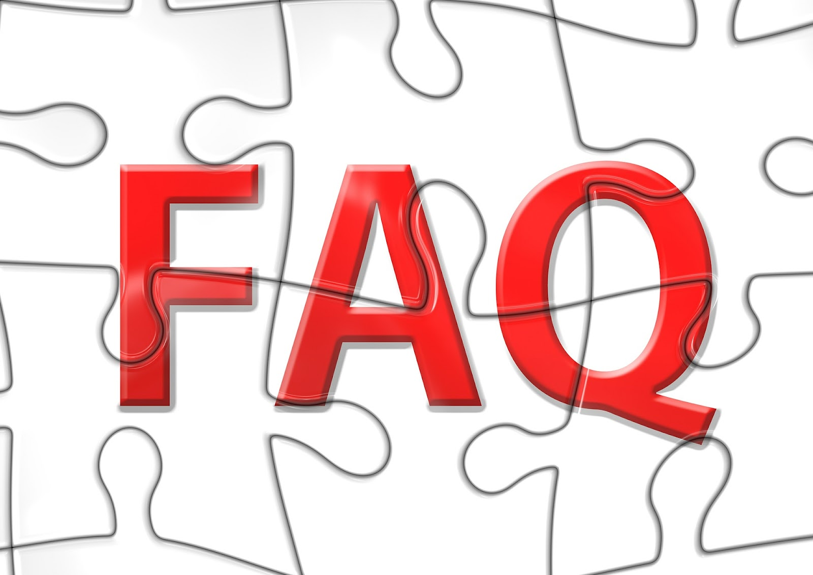 A puzzle with a red FAQ symbol is part of the Kajabi Vs Clickfunnels review article