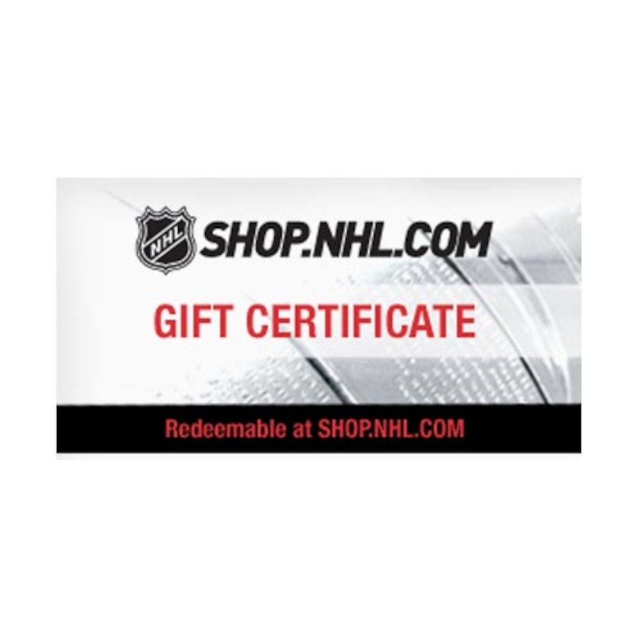 NHL gift certificate