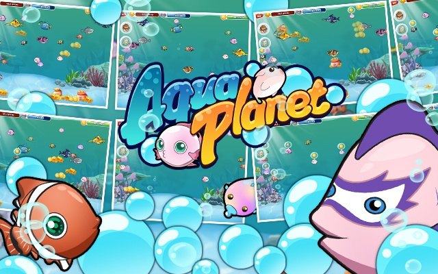 Welcome to Aqua Planet!Feed a variety of underwater creatures and ...