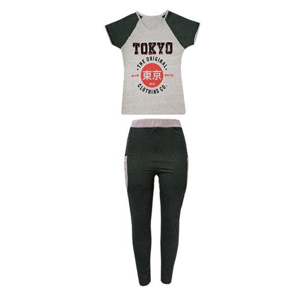 ست تی شرت و شلوار زنانه کد X-59
