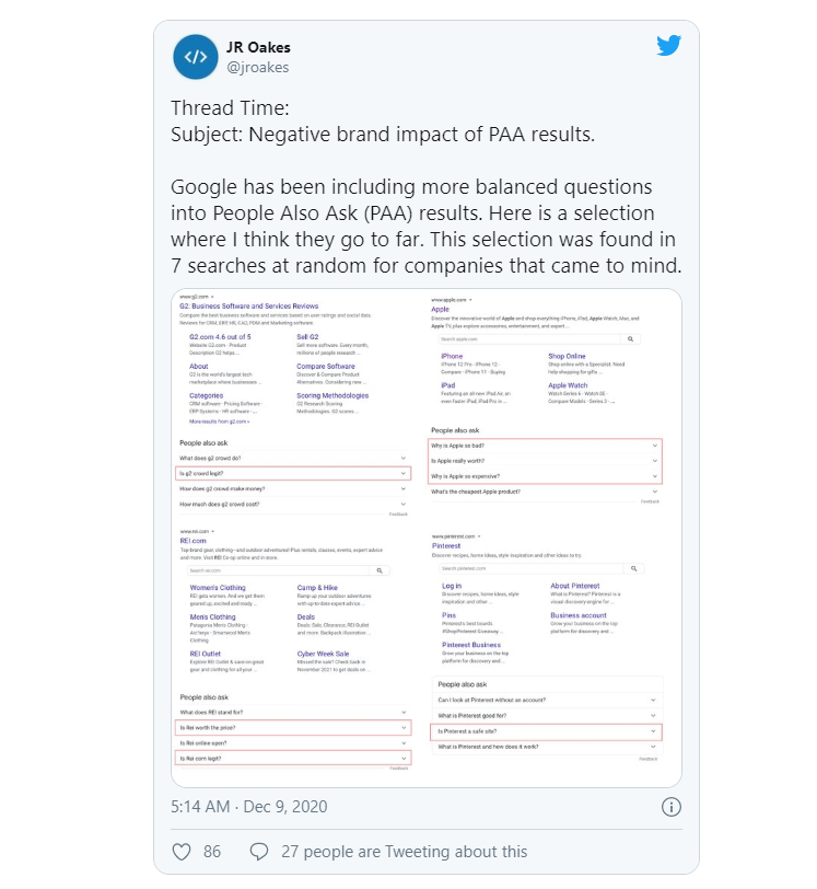 Danh tiếng thương hiệu và tác động lựa chọn SERP của Google