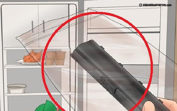 Bỏ pin vào tủ lạnh