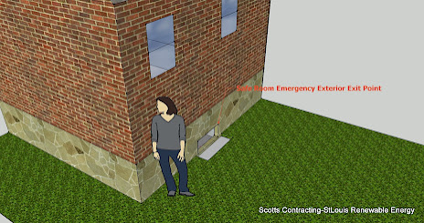 Safe Room Exterior Exit Point-CAD Design by Scotty