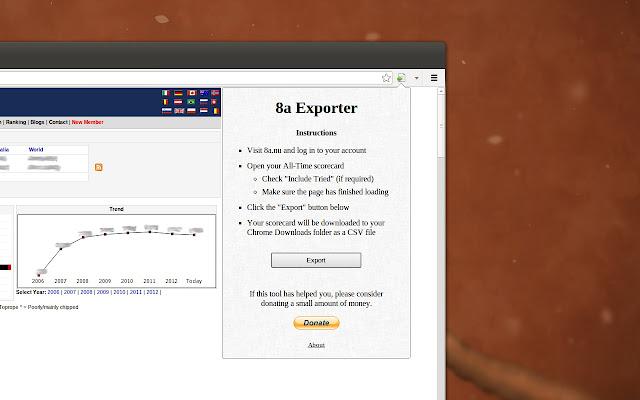 8a Exporter chrome extension