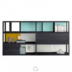 Libreria in legno Treku K4-2 Collezione Kai