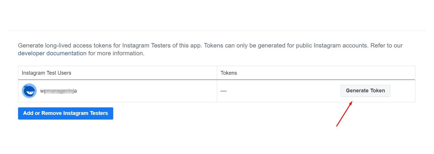 generate token for Instagram access token